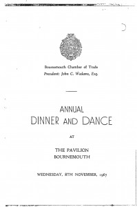 Annual Dinner and Dance 1967